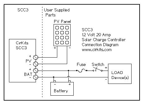 Cirkits scc3 solar charge controller kit scc3 circuit board assembled scc3 wiring diagram cheapraybanclubmaster Gallery